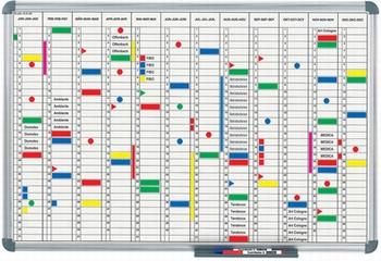 Maul Planbord Jaarplanner horizontale maandindeling 90x120cm