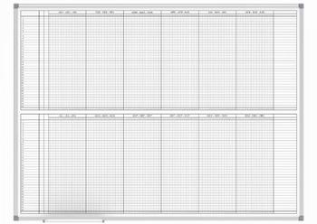 Maul Planbord Maand / Jaarplanner - 2x6 maanden - 90x120cm