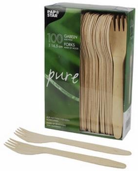 PAPSTAR  Pure houten vork  lengte 165 mm