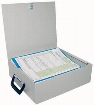 Documentenkist geschikt voor A4 Ordner afsluitbaar handgreep