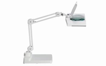 Maul Loeplamp met voetstuk vitrum wit