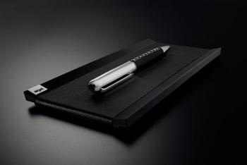 Sigel luxe pennenbak Cintano X echt leder zwart