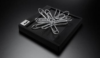 Sigel luxe papercliphouder Cintano S kunstleder zwart