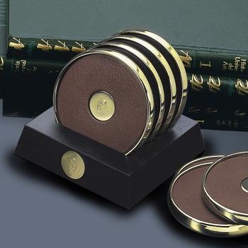 EL Casco M653 L luxe onderzetters glas 23 krt Gold plated