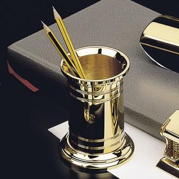 EL Casco M654 L luxe pennenkoker 23 krt Gold plated