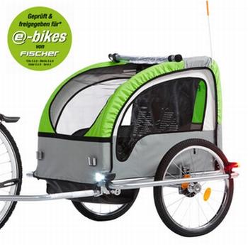 Fischer aanhanger Komfort voor fiets zwart / groen