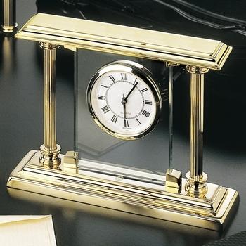 EL Casco M663 L luxe bureauklok Gold plated