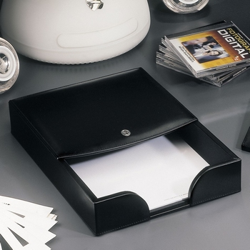 El Casco M718 Tijdgeest Kalfsleder luxe brievenbak Zwart