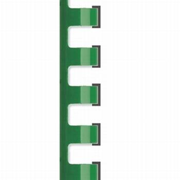 Bindrug plastic 12 mm 21-rings A4 Jager Groen 100stuks