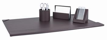 Complete bureauset leatherlook bruin 4 items