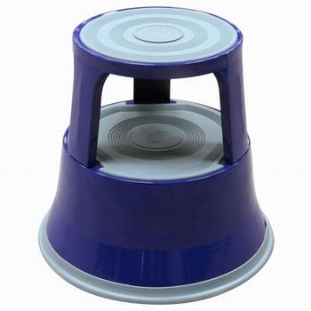 Opstapkruk rond metaal max. belasting 150 kg. blauw