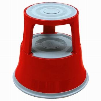 Opstapkruk rond metaal max. belasting 150 kg. rood