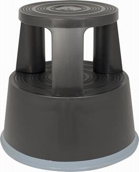 Opstapkruk rond plastic max. belasting 150 kg. zwart