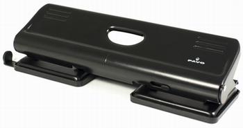 Perforator 4-gaats 22 vel zwart met lock