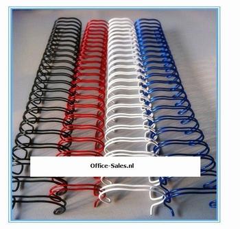 Draadkam metaal 7.9 mm (3:1) 34-rings  100 stuks ( kleuren )