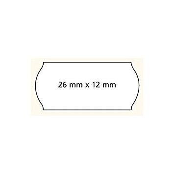 Agipa Prijstang etiketten 26 x 12 mm wit o.a. METO  6 rollen