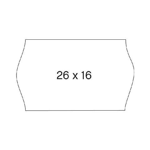 Agipa Prijstang etiketten 26 x 16 mm wit o.a. METO 6 rollen