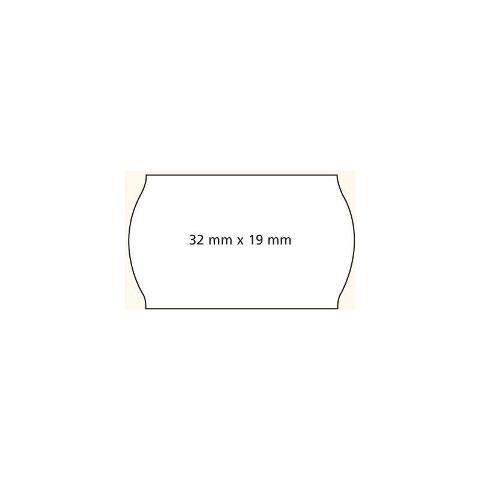 Agipa Prijstang etiketten 32 x 19 mm wit o.a. METO  6 rollen