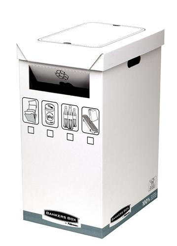 BANKERS BOX SYSTEM Recycling Container karton wit (5)