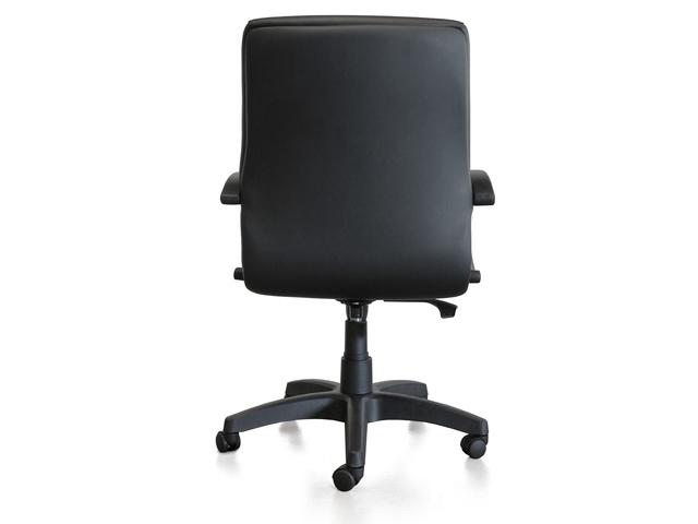 Bureaustoel Kangaro Leanna zwart leder