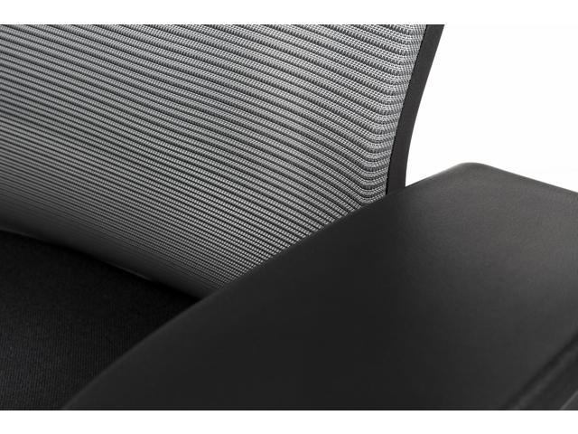 Bureaustoel luxe Kangaro netstof. Multi verstelbaar zwart