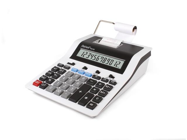 Calculator Rebell PDC30 WB wit-zwart print