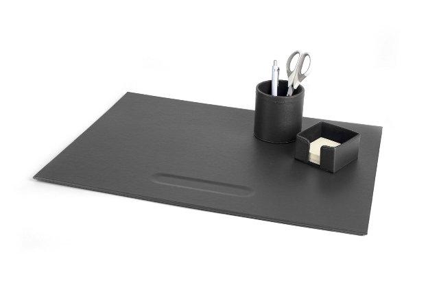 Complete bureauset leatherlook zwart 3 items