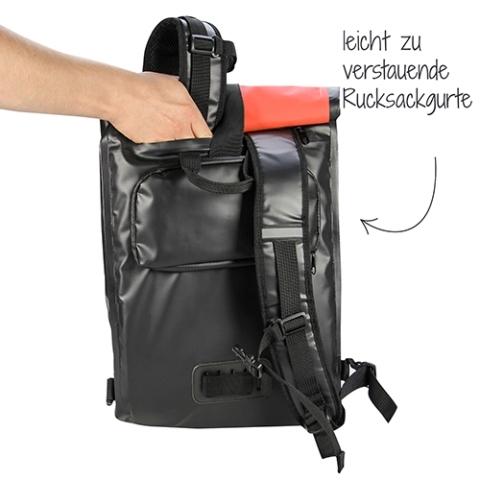 Fischer Fietstas / Rugzak Rood / Zwart
