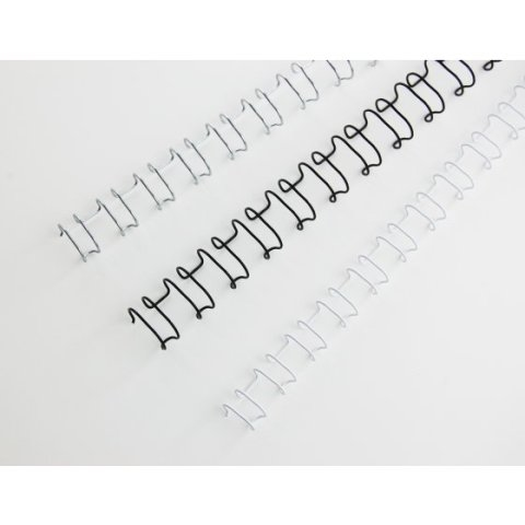 Ibiwire / GBC Draadruggen 21 lussen A4 10mm zilver 100st.