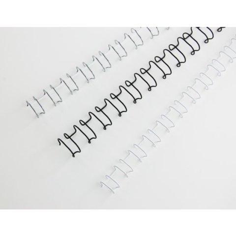 Ibiwire / GBC Draadruggen 21 lussen A4 8mm zilver 100st.
