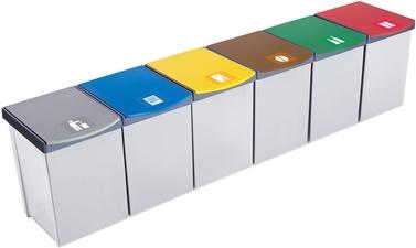 Inzamelbox Helit voor recyclebare stoffen 20L grijs - blauw