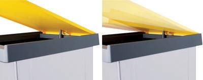 Inzamelbox Helit voor recyclebare stoffen 20L grijs - geel
