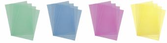 Kleuren transparante omslagen PVC A4 200 micron 100 stuks