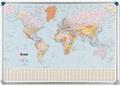 Nobo magnetische wandkaart Wereld