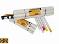 Verzendkokers CleverPack A2 + doppen 450x50x1.5mm wit
