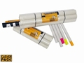 Verzendkokers CleverPack A1 + doppen 630x50x1.5mm wit