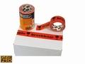 Dozentape 50mmx66m Oranje met tekst Breekbaar 3 stuks