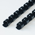 EUROP 24-Rings Plastic bindruggen  6mm zwart 100st.