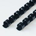 EUROP 24-Rings Plastic bindruggen  8mm zwart 100st.