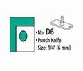 Rondhoekmes D6 rond gat van 6.0 mm voor rondhoeker