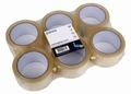 Verpakkingstape Low Noise 50mm x 66m Transp - pak 6 rollen