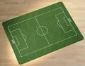 Stoelmat voor harde vloeren 90 x 120 cm Voetbalveld