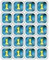 Consumptie breekmunten 200 stuks blauw
