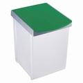 Inzamelbox Helit voor recyclebare stoffen 20L grijs - groen