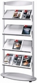 Kerkmann Folderrek Sirius voor 12 x A4 brochures Alu-Zilver
