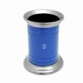 EL Casco M654 BL luxe pennenkoker Blauw / Chroom