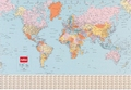 Nobo wandkaart Wereld gelamineerd 1200 x 830 mm