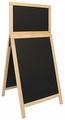Stoepbord DELUXE DUPLO voor krijt 550 x 1.200 mm