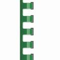Bindrug plastic 10 mm 21-rings A4 Jager Groen 100stuks