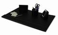 Complete bureauset leatherlook zwart 4 items